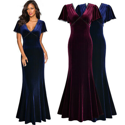 Women's Elegant Bell Sleeve Velvet Dress Perfect for Formal Evening Wear - Belle Dress For Women