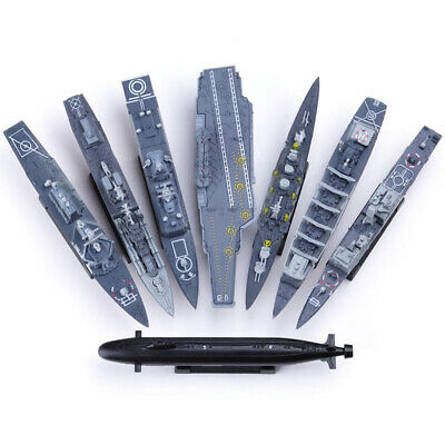Bricolaje Barco de Guerra Avión Plástico Modelo Kit Submarino Buque Toys Niños