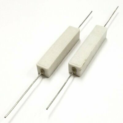 Lot Of 2 10k Ohm 10000 Ohm 10 Watt Wirewound Ceramic Power Resistors 10w