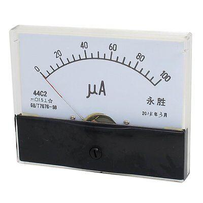 1pcs 44c2 Dc 0-100ua Class 1.5 Precision Panel Mounted Analog Ammeter Meter