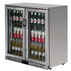 Polar G-Series Back Bar Cooler with Hinged Doors Stainless Steel 208