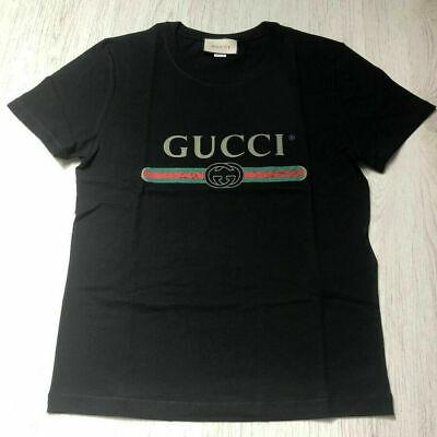 Gucci Men's Black Cotton T-Shirt Washed Vintage Logo Size M   RRP £340