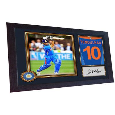 Sachin Tendulkar Cricket Indian signed poster autograph print photo FRAMED #003