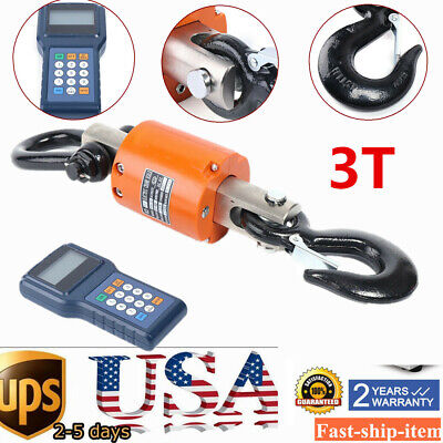 Wireless Crane Scale 3000kg6600lbs Industrial Hanging Weight Scale Digital Lcd