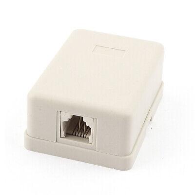 RJ11 6P4C un puerto hembra socket US teléfono adaptador caja de conexión...