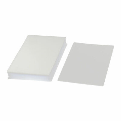 100pcs Clear White Plastic 95mmx135mm 3r Photo Paper Cards Laminating Pouch Film