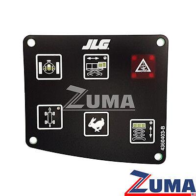 Jlg 4360403 4360403-b Jlg Scissor Lift Control Panel Membrane Touchpad