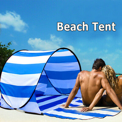 Automatic Pop Up Instant Portable Outdoors Beach Tent Sun Shelter Cabana Mat for sale  Gresham