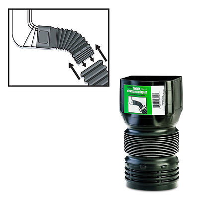 FLEX-Drain 53102 Flexible Downspout Landscaping Drain Pipe Adapter, 3″ x 4″ Business & Industrial