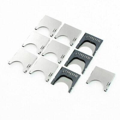 10 Pcs 29mm Long Spring Loaded Sd Memory Card Sockets Slots