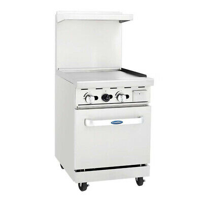 Atosa Usa Agr-24g-ng 24 Gas Restaurant Range 1 Space Saver Oven 1 Griddle