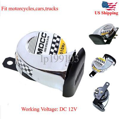 12V Chrome Motorcycle Horn For Honda VTX 1300 1800 TYPE C R S N F T RETRO