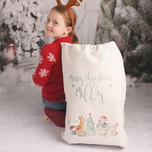 Personalised+Winter+Animals+Large+Christmas+Gift+Sack