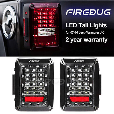 Firebug Jeep Wrangler Rear tail Light, Jeep Wrangler LED Tail Light, Brake Light