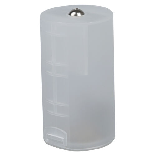 Transparent White 2 AA into D Cell Holder Case Batteries Converter AD