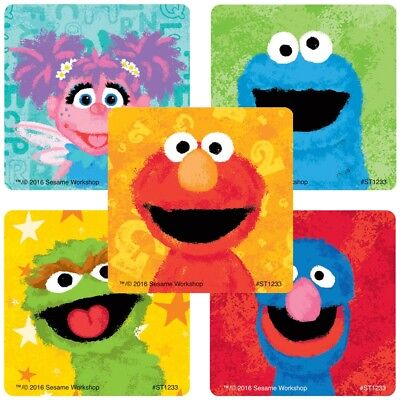 20 Sesame Street Chalk STICKERS Party Favors Supplies Birthday Treat Loot Bags](Sesame Street Birthday Party Favors)