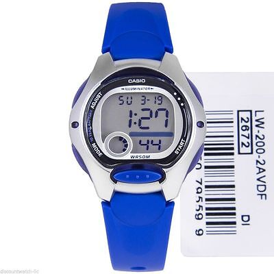 Black Friday CASIO LW-200-2A Ladies Kids Boys Digital Blue Watch LW-200 LW200