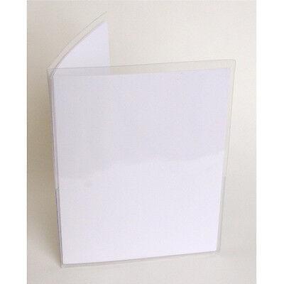 Storesmart Clear Vinyl Plastic Letter Size Folder W 2 Pockets 25pack Vh8511-25