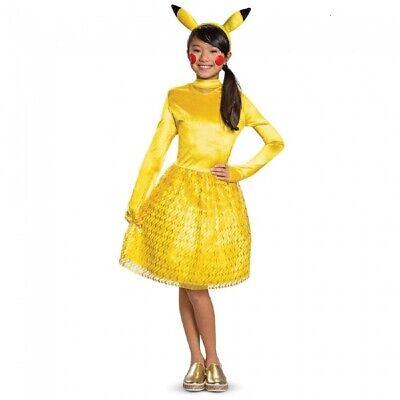 Pikachu Mädchen Kind Pokemon Videospiel Halloween Verkleidung
