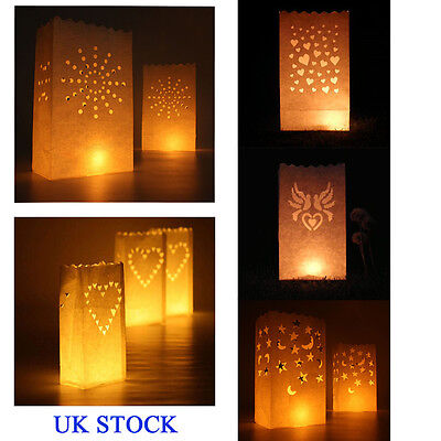 10 Luminary Paper Lantern Bags Candle Light Table Wedding BBQ Xmas Decor Party - Luminary Bag