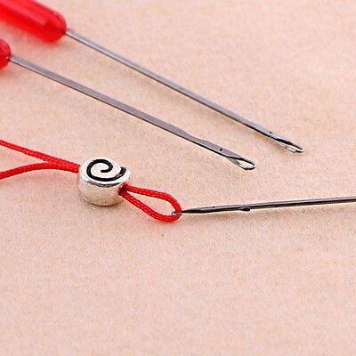DIY Perlen Nadeln Threading String Cord Schmuck Handwerk machen Werkzeug
