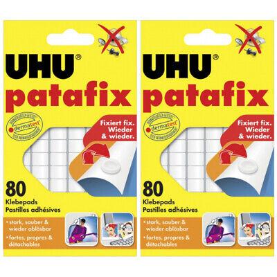 2 x Uhu Patafix Weiss 80 Stück