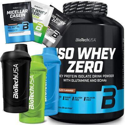BioTech USA Iso Whey Zero 2270g Protein Isolat Eiweiß plus Bonus Shaker u. Probe