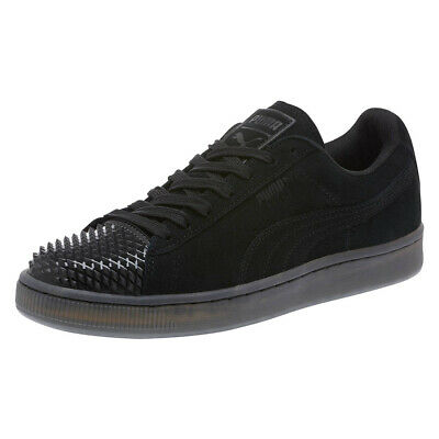 PUMA Suede Leather Jelly Ladies Trainers Black Suede Womens Shoes