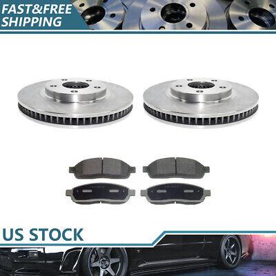 Fits 1998-2002 Cadillac Seville Front Brake Rotors & Ceramic Brake Pads