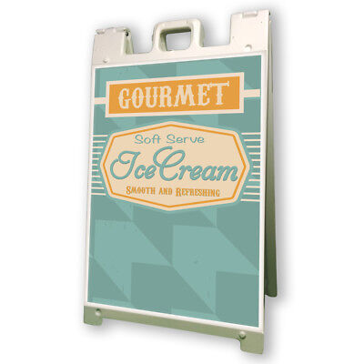Soft Serv Ice Cream Sidewalk A Frame 24x36 Concession Stand Outdoor