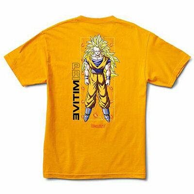 Primitive x Dragon Ball Z Men's Goku Glow Short Sleeve T Shirt Yellow Gold -