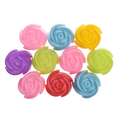 10x Silicone Rose Muffin Cookie Cup Cake Baking Mold Jelly Maker Mould L2P5