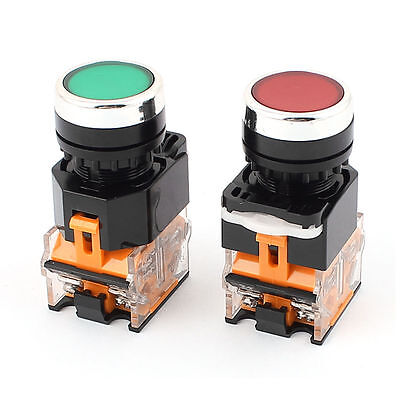 2 Pcs 22mm Redgreen Startstop 1 Red Switch 1 Green Switch Non-latching