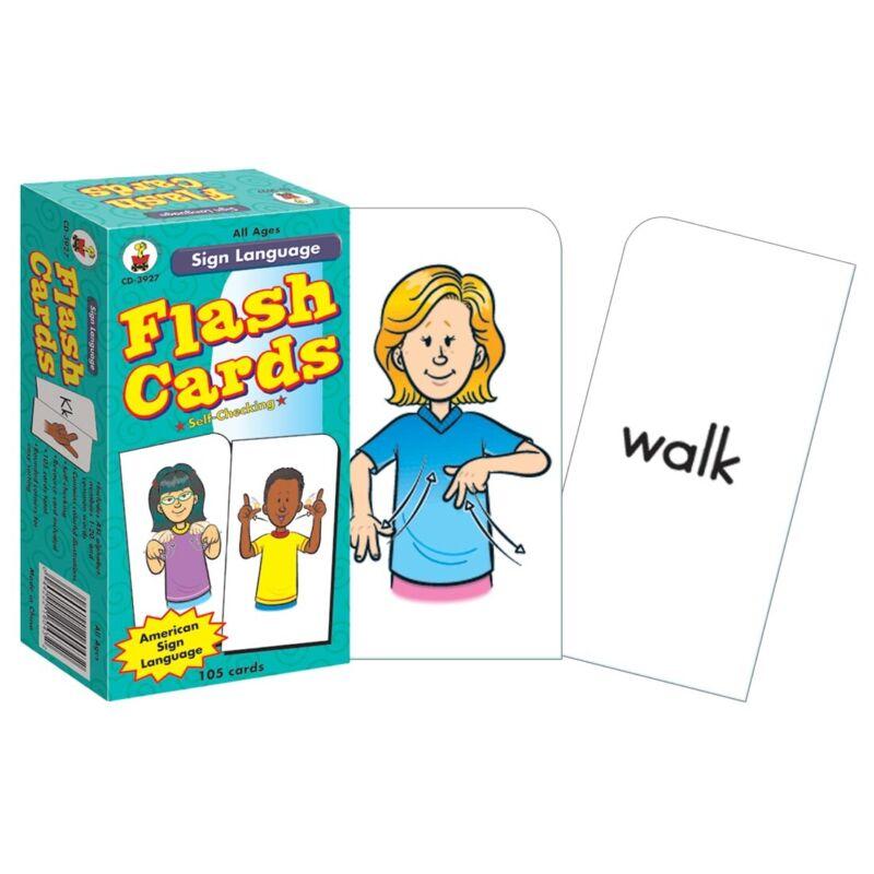 Sign Language Flash Cards by Carson-Dellosa  - Sign Language Flash Cards