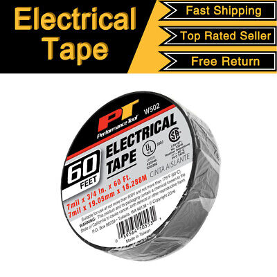 Wilmar Electrical Tape Black 34 X 60 Ft Insulated Electric 7mil X 19mm X 18m
