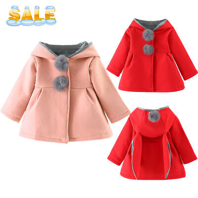 Toddler Baby Infant Girls Winter Thick Warm Hoodie Coat Jacket Outfits Clothes - Thick Girl Outfits