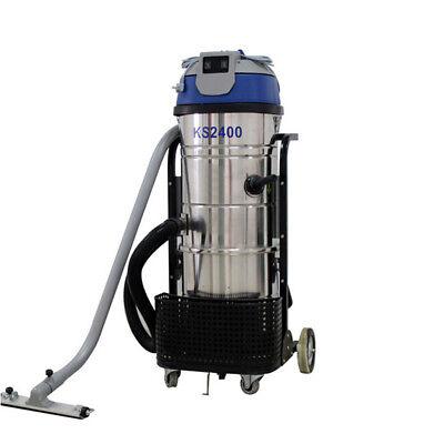 Vi 220v 2400w 100l Vac Commercial Industrial Vacuum Cleaner Wet Dry Dual Motor
