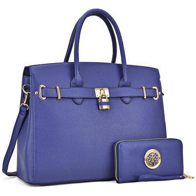 Dasein Women Handbag Top Handles Satchel Shoulder Bag Large Purse Wallet Set