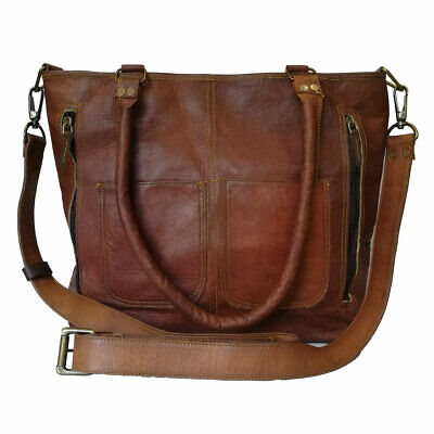 - Womens Crossbody Genuine Leather Shoulder Tote Handbag Brown Purse Satchel Bag