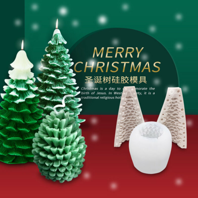 Christmas Tree Candle Mould DIY Craft Silicon Handmade Wax for Candle Making