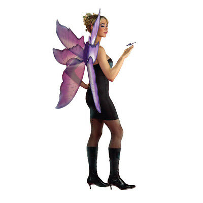 Silver Fairy Wings (Purple and Silver Fairy Wings Fantasy Costume Accessory)
