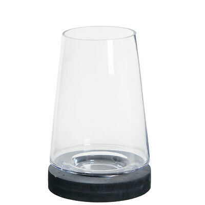 Medium Cone Top (Medium Glass Cone Dome Candle Holder with Open Top & Black Base 27 cm)