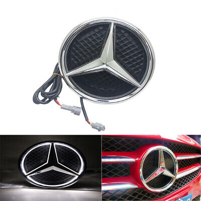 Grundträger Grundplatte Stern Kühlergrill LED Emblem komplett Für Mercedes-Benz
