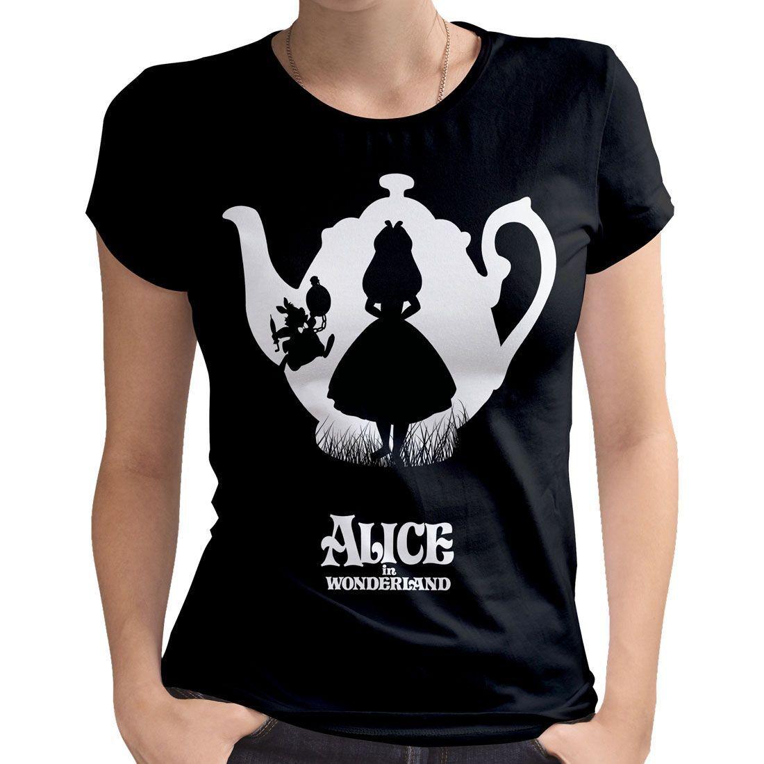 3377a2d45b9e8b Alice im Wunderland - Disney Vintage Damen Lizenz T-Shirt - Adventure  (S-XL)