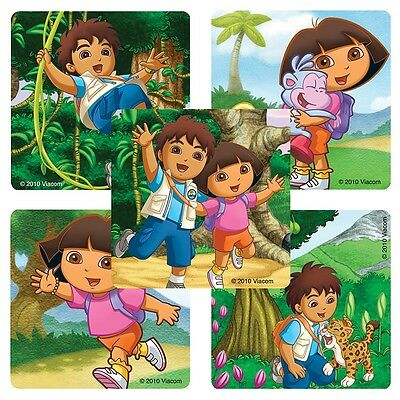 Dora Party Favors (25 Dora and Diego Stickers, Assorted, 2.5