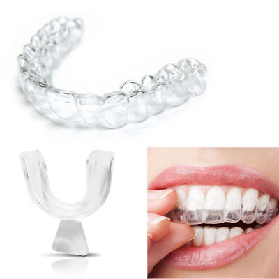 2 X Silicone Night Mouth Guard Teeth Clenching Grinding Dental Bite Sleep Aid