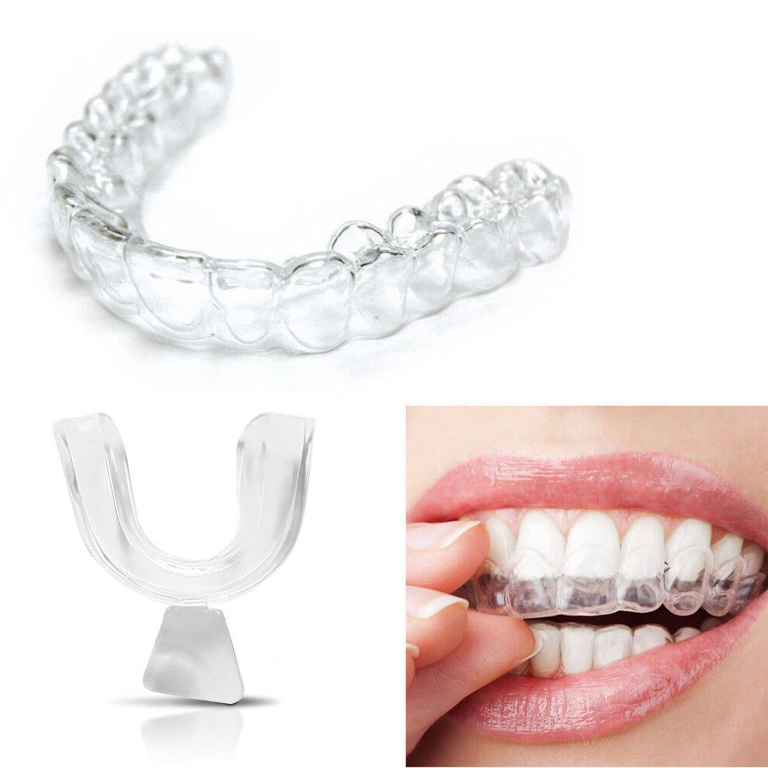 4 x Silicone Night Mouth Guard Teeth Clenching Grinding Dent