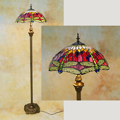 Tiffany Stehlampe Dragonfly Libelle Tiffanylampe TE07-a