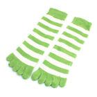 Toe Socks White Striped Socks for Women
