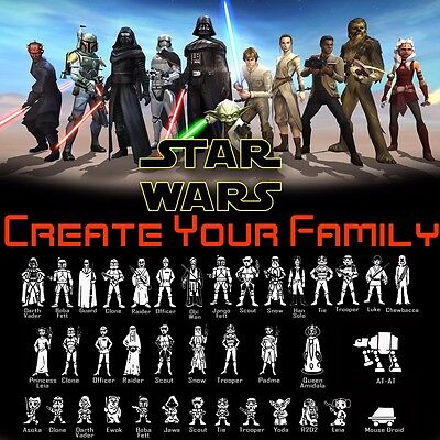 Star Wars Family Car Vinyl Decal Sticker StarWars Window Laptop Characters - Star Wars Window Decal